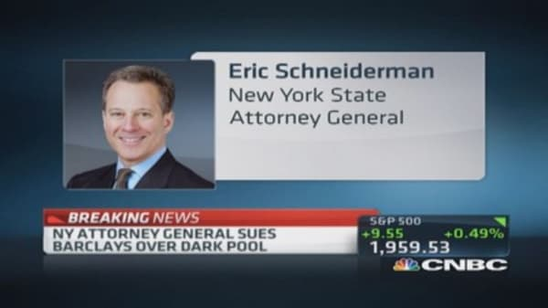 NY AG sues Barclays over 'dark pool'