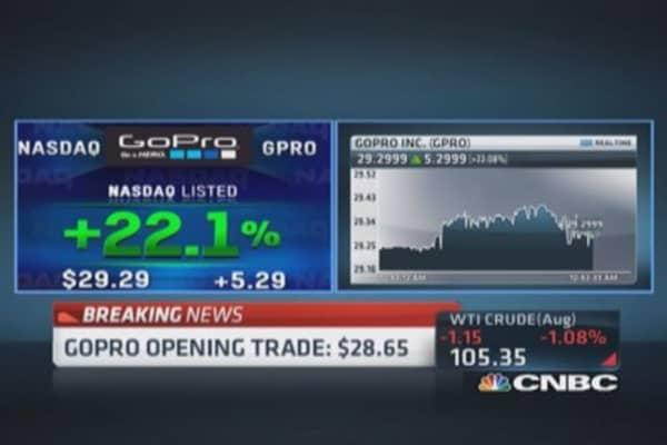 GoPro open for trading