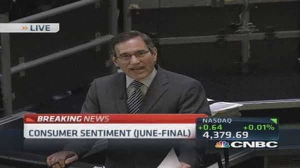 June consumer sentiment: 82.5