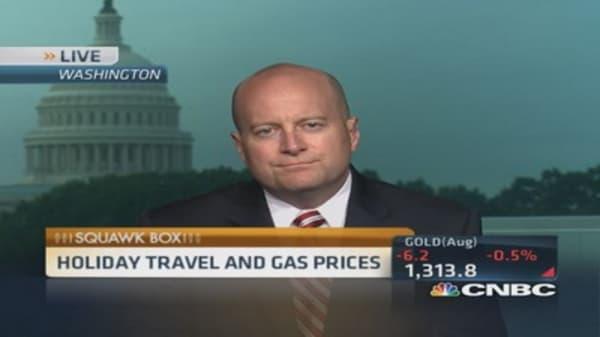 Gas prices won't cramp travel plans