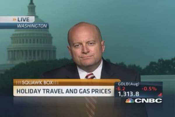 Gas prices won't cramp travel plans