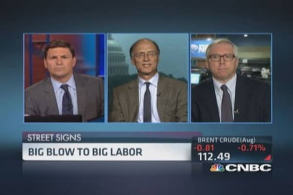 Big blow to big labor