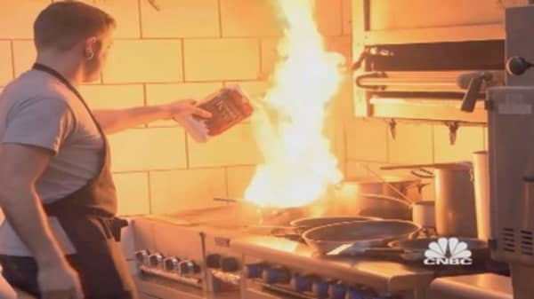 Fire in the kitchen!