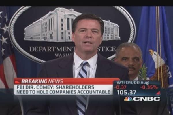 FBI Dir. Comey: Shareholders need to hold companies accountable