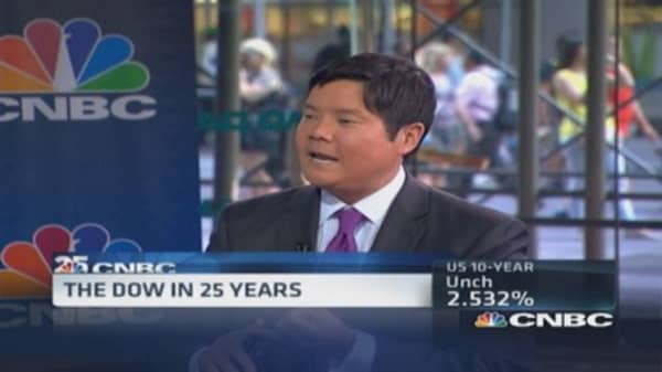 The Dow in 25 years