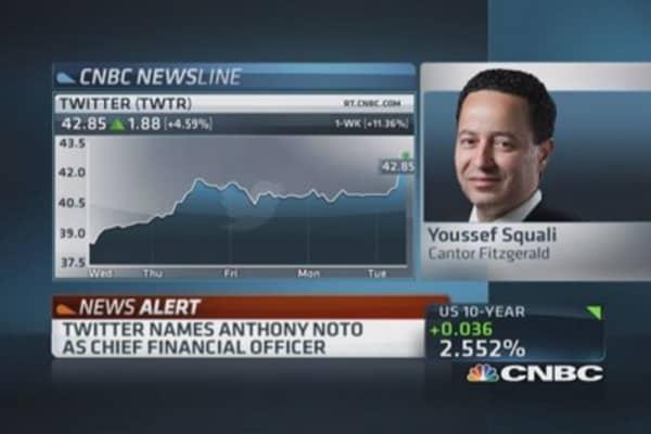 Twitter names Goldman's Noto CFO