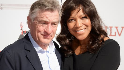 Actor Robert De Niro and his wife Grace Hightower