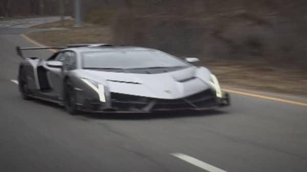 Please don't crash the $4M Lamborghini Veneno