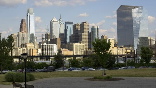The skyline of Philadelphia