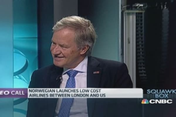 US airlines 'afraid of competition': Norwegian CEO