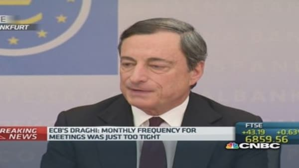 FX rate 'important' for price stability: Draghi