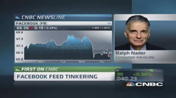 Ralph Nader: Facebook users should be paid