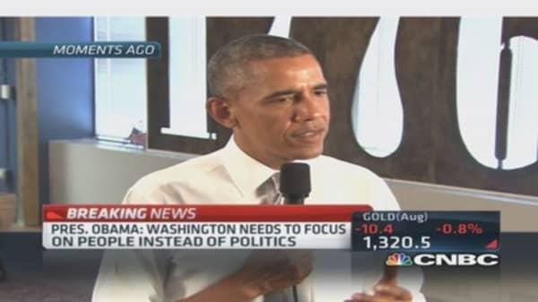President Obama on jobs growth