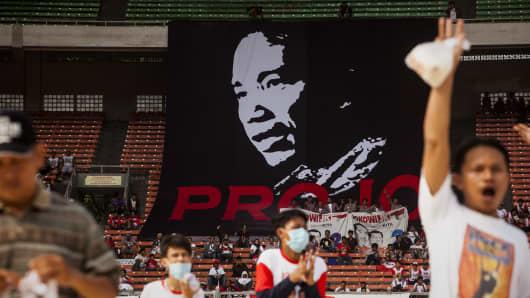 Supporters of Joko Widodo in Jakarta, Indonesia