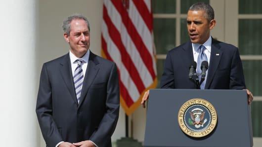 U.S. President Obama and U.S. Trade Representative Michael Froman