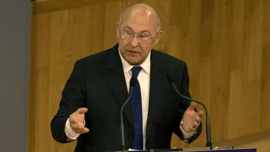French finance minister, Michel Sapin.