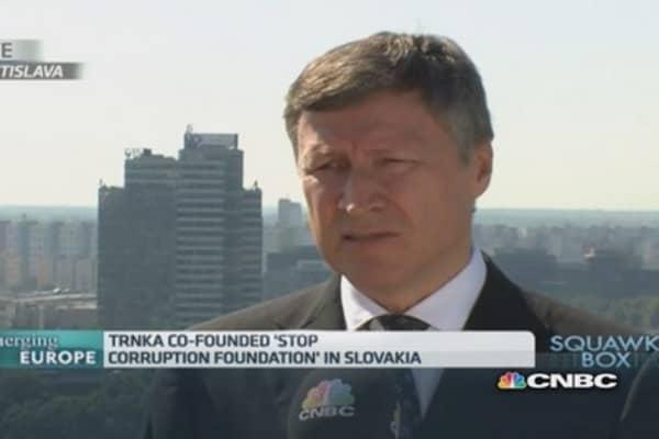 Corruption a 'big problem' in Slovakia: Pro