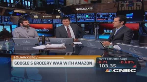 Google's grocery war with Amazon
