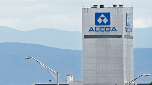 An Alcoa aluminum plant in Alcoa, Tennessee