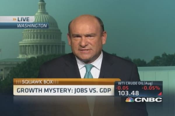 Growth mystery: Jobs vs. GDP