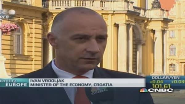 We were too slow on reforms: Croatia Econ Min