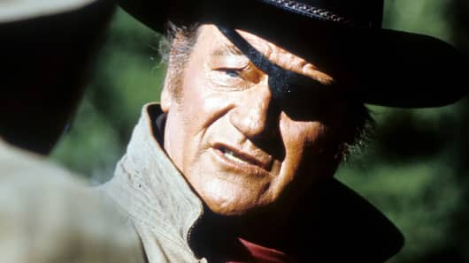 "John Wayne in ""True Grit"""