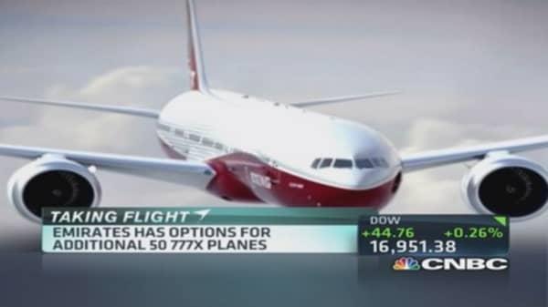 Emirates orders 150 777X Boeing planes