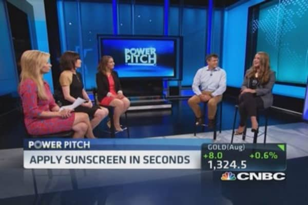 Power Pitch: Apply sunscreen in seconds