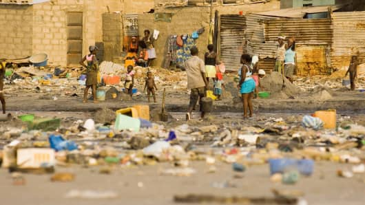 Slums on the outskirts of Luanda, Angola