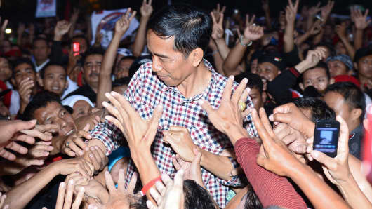 Joko Widodo, Governor of Jakarta and presidential candidate.