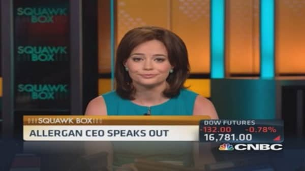 Allergan CEO comes out swinging