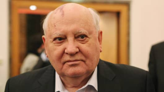 Former leader of the Soviet Union Mikhail Gorbachev.