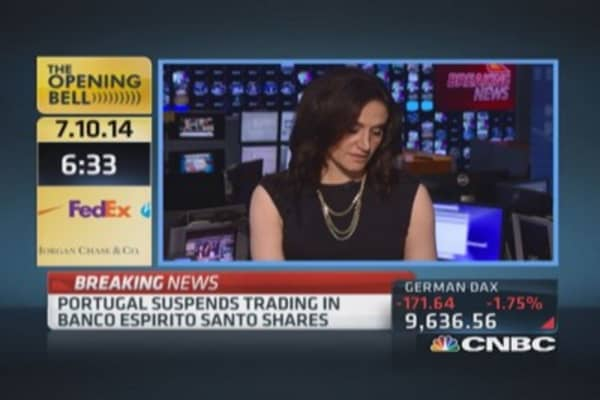 Portugal suspends trading in Banco Espirito Santo: Report