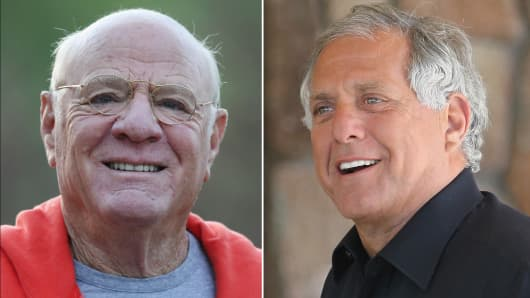 Barry Diller and Les Moonves at the 2014 Allen & Co. conference in Sun Valley.