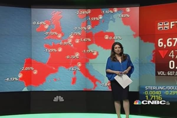 Europe shares close down, Portugal banks weigh