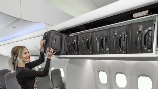 There is now more overhead bin space on Alaska Air.