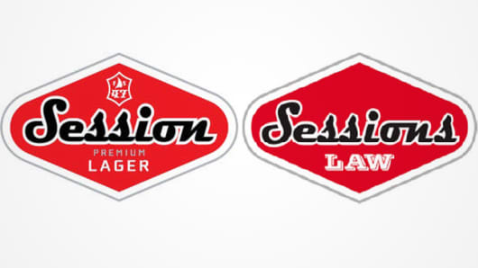 Full Sail Brewing Company Sessions Lager sues The Sessions Law Firm for copyright infringement.