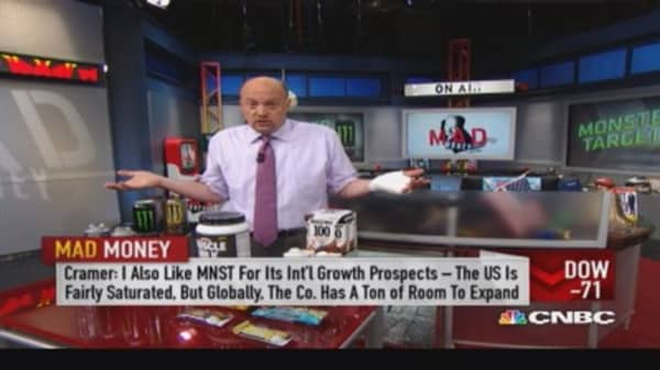 Cramer's 'Monster' takeover speculation