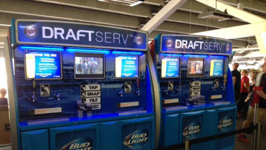 Self-Serve beer stations at Target Field.