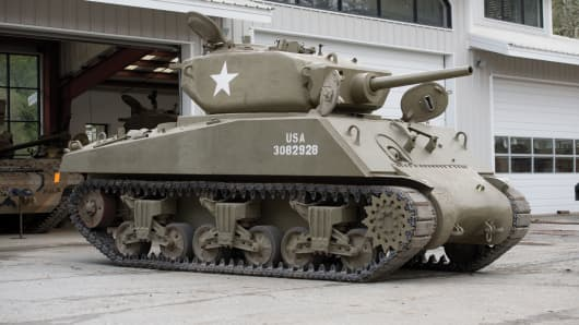 "Lot 5005: M4A3E2 Assault Tank ""Jumbo"" Sherman."