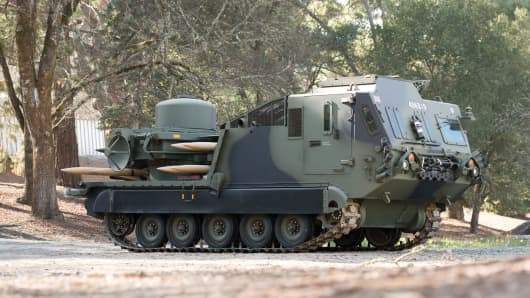 Lot 1080: RCM 748 'Tracked Rapier' Weapons Carrier.