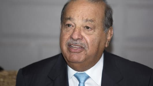 Billionaire Carlos Slim speaks during an event announcing an alliance between his philanthropic foundation and the World Wildlife Fund in Mexico City, Mexico.