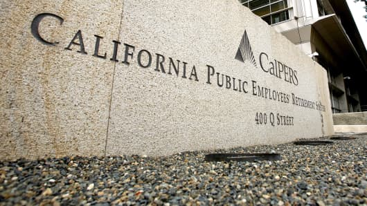 The offices of the California Public Employees' Retirement System (Calpers) are shown in Sacramento, Calif.