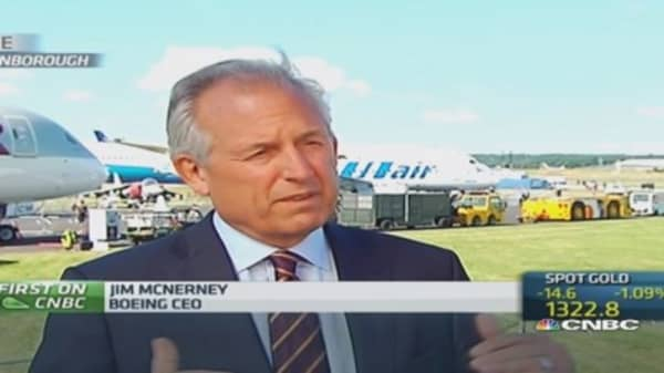 'We've got the market covered': Boeing CEO