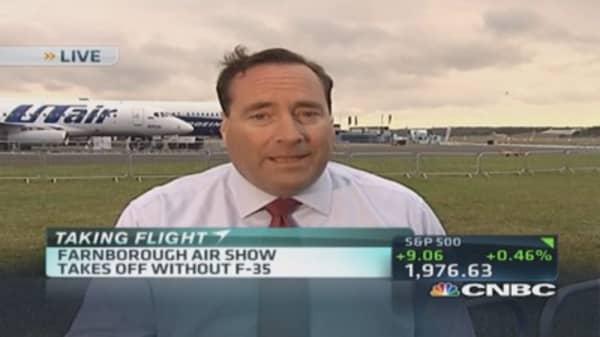 F-35 fails to take Farnborough skies