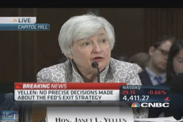 Yellen: Needed accommodative monetary policy