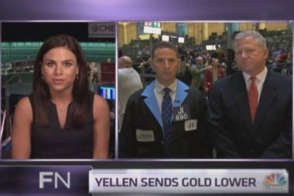 Traders explain gold¿s Yellen plunge