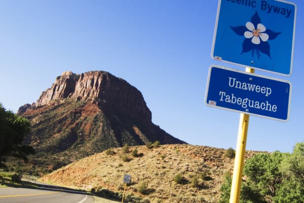 A butte along the Unaweep-Tabeguache Scenic and Historic Byway, Colorado