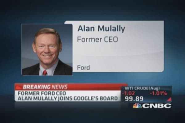 Former Ford CEO Mulally joins Google's board