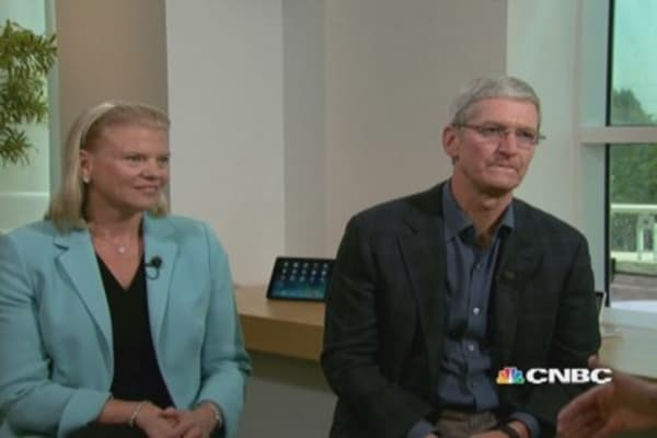 Cook: Partnership the best of Apple, best of IBM